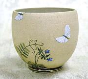 Чаша тяван для японской чайной церемонии, художник В.Юделевич на стихи Иссы