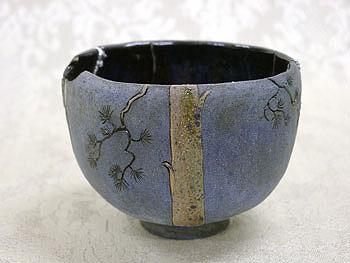 Другая сторона чаши-тяван для японской чайной церемонии. Автор В.Юделевич
